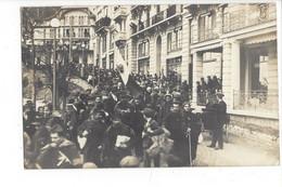 28052 - Leysin Arrivée Des Militaires + Cachet Prisonniers De Guerre 25.02.1916 Carte Photo - VD Vaud