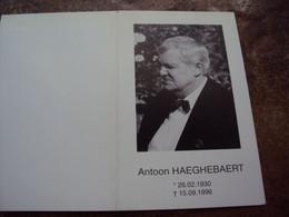 Doodsprentje/Bidprentje  Antoon HAEGHEBAERT (Echtg Laura-E.WYDOOGHE) Lichtervelde 1930-1996 Roeselare - Religion & Esotericism