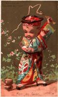 TRES JOLIE CHROMO  / CHOCOLAT GUERIN BOUTRON / VALLET MINOT/ JAPON / TOUPIE / MON JEU FAVORI - Guerin Boutron