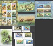 H224 2001 CENTRAL AFRICA FAUNA ANIMALS CHILDREN OF MOTHER NATURE #2694-714 MICHEL 55 EURO 2KB+3BL+1SET MNH - Altri