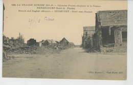 GUERRE 1914-18 - HERBÉCOURT - Route De Biaches - Autres Communes