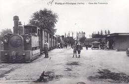 Carte Photo - Parigné-l'Évèque (Sarthe 72) - La Gare Des Tramways - Otros Municipios