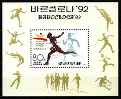 MNH Sheet DPR KOREA 1991: Olympic Games BARCELONA 1992 (400m Running) - Corea Del Nord