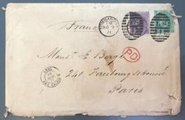 Royaume-Uni, Enveloppe De Lombard.ST 9.11.1871 + TAD ANGL AMB. CALAIS B - (A1156) - Cartas