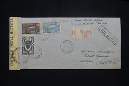 CAMEROUN - Enveloppe En Recommandé De Douala Pour Abidjan En 1944 Par Avion Avec Contrôle Postal - L 97217 - Covers & Documents