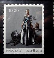 Faroe Islands - 2012  MNH*  40 Years Regency Of Queen Margrethe II. Mi 738 - Postfris. - Faroe Islands
