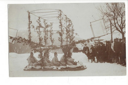 28056 - RARE Leysin Carte Photo Traîneau  De Carnaval 1910 - VD Vaud