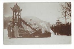 28057 - RARE Leysin Carte Photo Traîneau  De Carnaval 1910 - VD Vaud