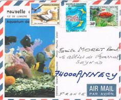 40377. Carta Aerea NOUMEA (Nueva Caledonia) 1981. Aquarium A France - Briefe U. Dokumente