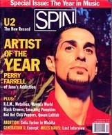 SPIN 12/1991 - U2 - PERRY FARRELL- REM-METTALLICA-WAYNE'S WORLD-BLACK CROWES-SMASHING PUMKINS ETC. - Cultural