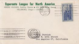 LANGUAGES, ESPERANTO, OKLAHOMA STATEHOOD, ATOM STAMP ON COVER, 1957, USA - Esperanto