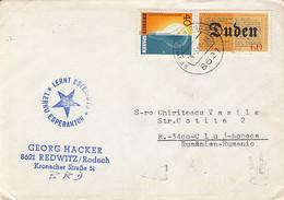 LANGUAGES, ESPERANTO, LEARN ESPERANTO INK STAMP ON COVER, 1980, GERMANY - Esperanto