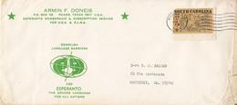 LANGUAGES, ESPERANTO INTERNATIONAL LANGUAGE, SOUTH CAROLINA STAMP, SPECIAL COVER, 1971, USA - Esperanto