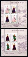 MNH Sheetlets DPR KOREA 1997: WOMAN COSTUMES, CV Mi€ 10.00 - Corea Del Nord