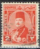 ED 15 - EGYPTE N° 224 Obl. Roi Farouk - Used Stamps