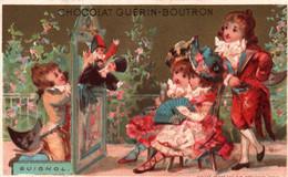 TRES JOLIE CHROMO DOREE  / CHOCOLAT GUERIN BOUTRON / VALLET MINOT / GUIGNOL - Guerin Boutron