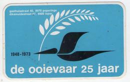 AUTOCOLLANT . STICKER . DE OOIEVAAR 25 JAAR . LA CIGOGNE . VETEMENTS Et FOURNITURES POUR ENFANTS . POPERINGE . IEPER - Stickers