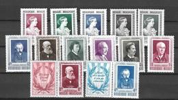 Belgique YT N° 863/867, N° 892/897 Et N° 898/899 Neufs *. B/TB. A Saisir! - Unused Stamps