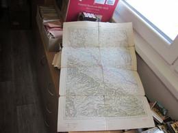 Bjelovar  Jugosovenska Armija Military Map Officer Map 67x46 Cm - Geographical Maps