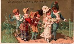 TRES JOLIE CHROMO DOREE  / CHOCOLAT GUERIN BOUTRON / VALLET MINOT / UNE NOCE - Guérin-Boutron