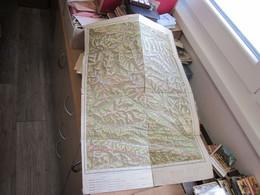 Hofgastajn Hofgastein  Jugosovenska Armija Military Map Officer Map 67x46 Cm - Geographical Maps