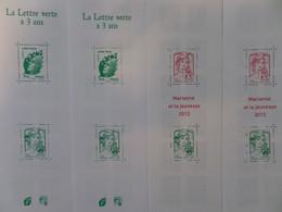 France Carnets à Composition Variable YT N° 1520A (2) Et N° 1521 (2) Neufs ** MNH. TB. A Saisir! - Usados Corriente