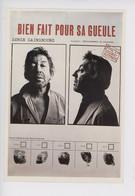 """Serge Gainsbourg """"Bien Fait Pour Sa Gueule"""" Détournement De Mineure - Fiche Signalétique Empruntes Humour (cp Vierge) - Cantantes Y Músicos"""
