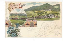 28061 -  Leysin Souvenir De Leysin 1900 Litho Gentianes Multivues - VD Vaud