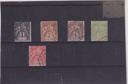 GABON-TP N° 16/20  NSG OB  1904 - Used Stamps