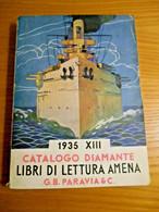 Catalogo Editoriale - Paravia Diamante, Libri Di  Letteratura Amena - G.B.Paravia 1935 - Non Classificati