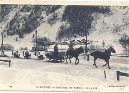 CHAMONIX Traineau Et Retour De Luges - Chamonix-Mont-Blanc