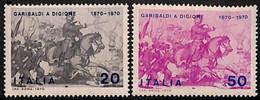 ITALIA 1970 - GARIBALDI EN GUERA FRANCO PRUSIANA - YVERT Nº 1055-1066** - 1961-70:  Nuevos