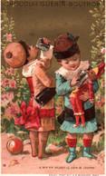TRES JOLIE CHROMO DOREE  / CHOCOLAT GUERIN BOUTRON / VALLET MINOT / LE BON VIN - Guerin Boutron