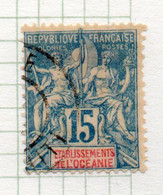 37CRT507 - OCEANIA 1892 ,  Yvert N. 6 Usato. - Used Stamps