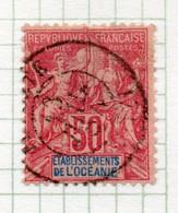 37CRT512 - OCEANIA 1892 ,  Yvert N. 11 Usato. - Used Stamps