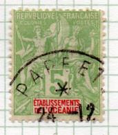 37CRT514 - OCEANIA 1900 ,  Yvert N. 14 Usato. - Used Stamps