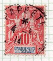 37CRT515 - OCEANIA 1900 ,  Yvert N. 15 Usato. - Used Stamps