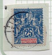 37CRT517 - OCEANIA 1900 ,  Yvert N. 17 Usato. - Gebruikt