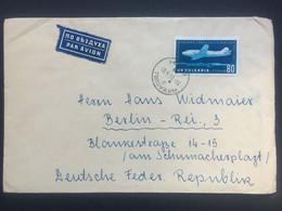 BULGARIA 1957 Air Mail Cover Dobritsch To Berlin - Briefe U. Dokumente