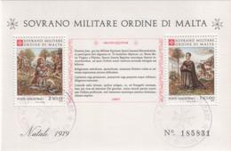 """SMOM - 1979 - Usato - """"Natale"""" In Foglietto (rif. BF13 Cat. Unificato) - Malte (Ordre De)"""