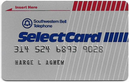 USA - Southwestern Bell Tel. (SBC) - SelectCard, User's Card, Credit Magnetic Remote, Used - [3] Magnetic Cards