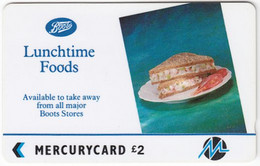 GREAT BRITAIN E-885 Magnetic Mercury - Advertising, Food - 2PBOD - Used - [ 4] Mercury Communications & Paytelco
