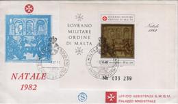 """SMOM - 1982 - FDC - """"Natale"""" In Foglietto (rif. BF16 Cat. Unificato) - Malte (Ordre De)"""