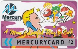 GREAT BRITAIN E-894 Magnetic Mercury - Cartoon - Used - [ 4] Mercury Communications & Paytelco