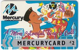GREAT BRITAIN E-896 Magnetic Mercury - Cartoon - 22MERA - Used - [ 4] Mercury Communications & Paytelco