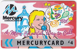 GREAT BRITAIN E-898 Magnetic Mercury - Cartoon - 25MERB - Used - [ 4] Mercury Communications & Paytelco