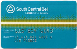 USA - BellSouth Telecom. (BST) - South Central Bell, User's Card, Credit Magnetic Remote, Used - [3] Magnetic Cards