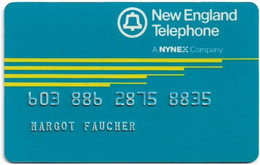 USA - Nynex - New England Telephone, User's Card, Credit Magnetic Remote, 1989, Used - [3] Magnetic Cards