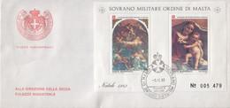 """SMOM - 1983 - FDC - """"Natale"""" In Foglietto (rif. BF17 Cat. Unificato) - Malte (Ordre De)"""