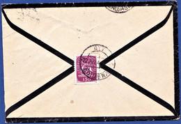 Mourning Letter / Lettre De Deuil / Carta De Luto - Coimbra To Caldas Da Felgueira, Beira Alta / Portugal, 1946 - Lettres & Documents